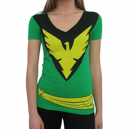 X-Men Women's Phoenix Green Costume T-Shirt