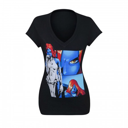 X-Men Mystique Panels Women's V-Neck T-Shirt