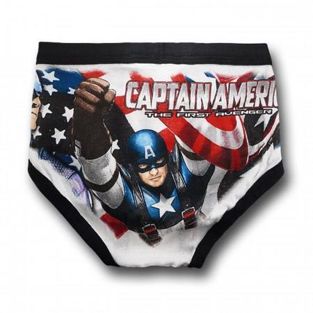Captain America Movie Juvenile 3-Pack Underwear