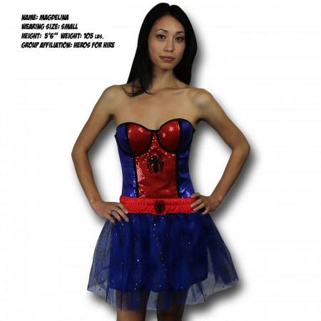 Spiderman Spidergirl Costume Sequin Corset
