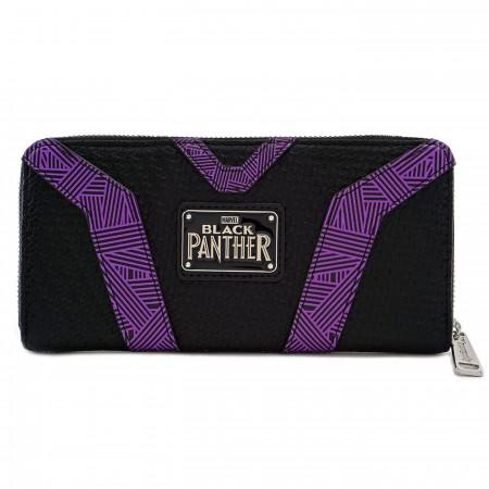 Black Panther Kinetic Energy Suit Zip Around Wallet