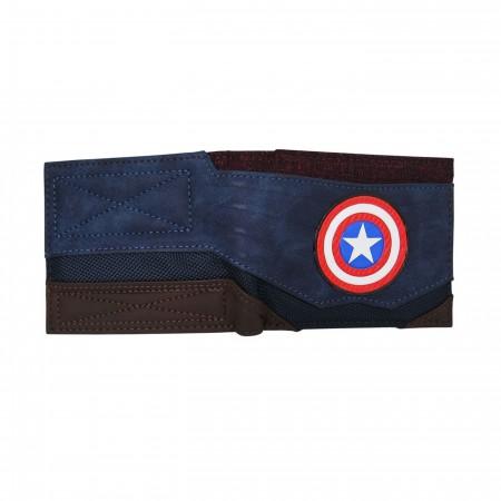 Captain America Chrome Weld Men's Bi-Fold Wallet