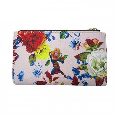 Captain Marvel Floral Bi-Fold Wallet