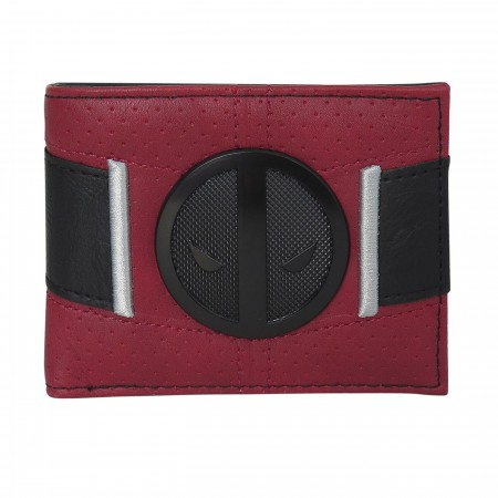 Deadpool Black Badge Costume Men's Bi-Fold Wallet
