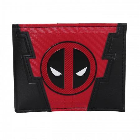 Deadpool Chrome Weld Patch Men's Bi-Fold Wallet
