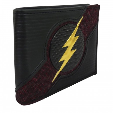 Flash Logo Chrome Weld Patch Men's Bi-Fold Wallet