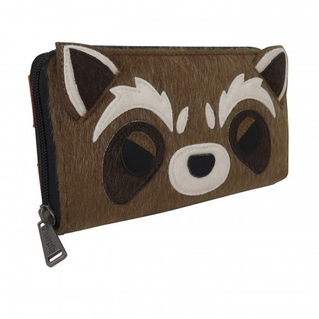 GOTG Rocket Raccoon Loungefly Zip Around Wallet