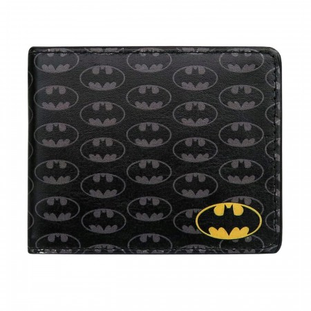 Batman Symbols All-Over Print Bi-Fold Wallet