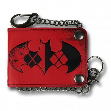 Batman Harley Quinn Snap Chain Wallet