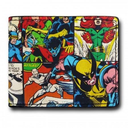 X-Men Comic Collage Bi-Fold Wallet