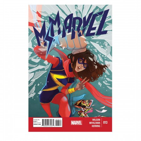 Ms. Marvel Action Punch Hinged Wallet