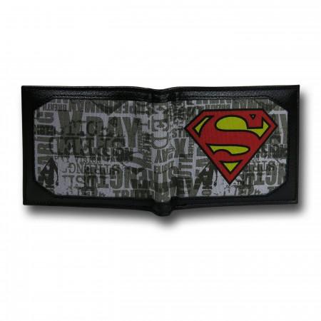 Superman Bi-Fold Symbols & Logos Canvas Wallet