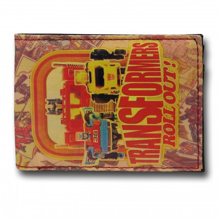 Transformers Sublimated Roll Out Bi-Fold Wallet