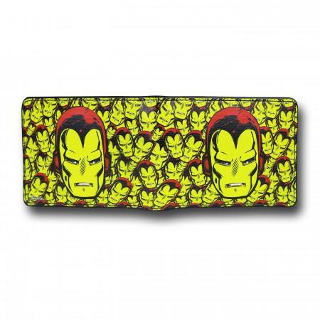 Iron Man Yellow Collage Bi-Fold Wallet