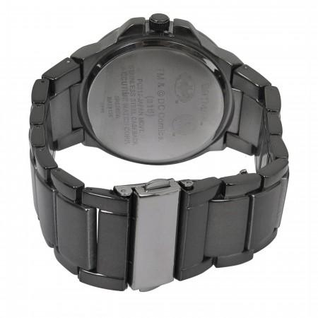 Batman Hush Symbol Charcoal Watch with Metal Band