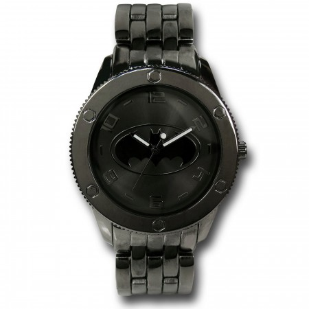 Batman Subdued Grey Black Watch with Metal Band