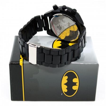 Batman Symbol Black Watch with Metal Band