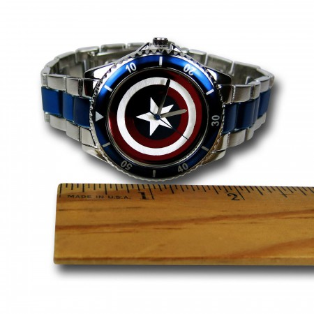 Captain America Shield Stainless Steel Watch