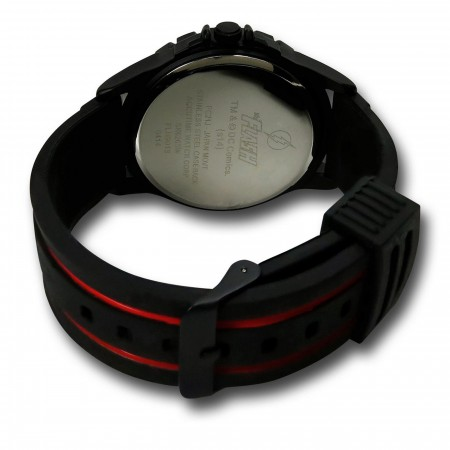 Flash Symbol Watch with Striped Silicone Band