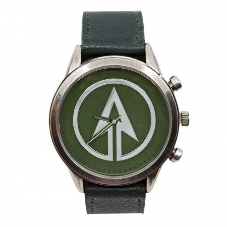 Green Arrow Symbol Watch with Adjustable Strap