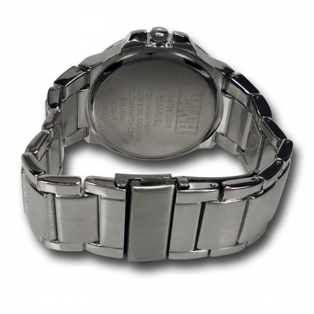 SHIELD Symbol Silver Watch with Metal Band