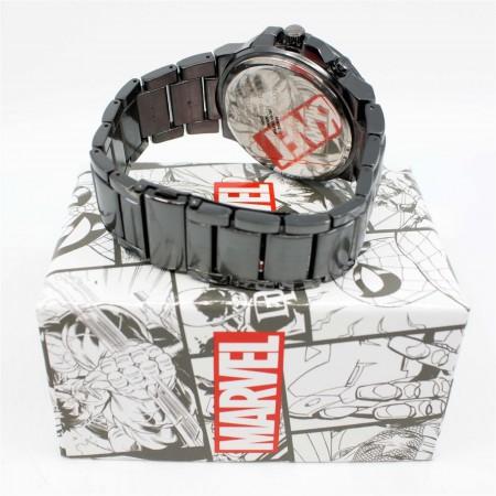Venom Backlight Symbol Watch with Metal Band