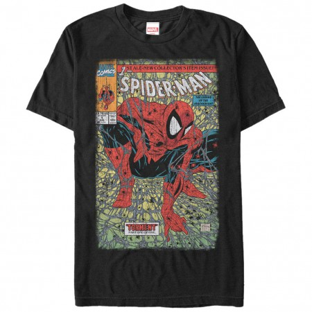 Spiderman Spider Torment Black Mens T-Shirt