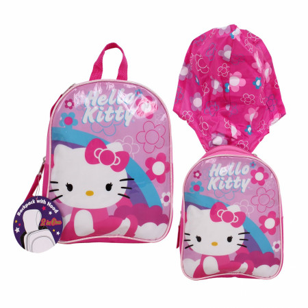 Hello Kitty Youth Backpack with Hood