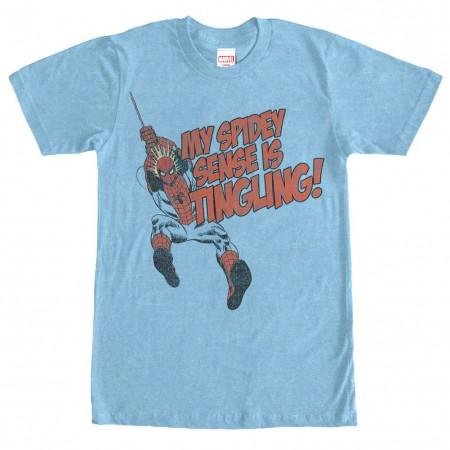 Spider-Man Spidey Senses Tingling Mens Blue T-Shirt
