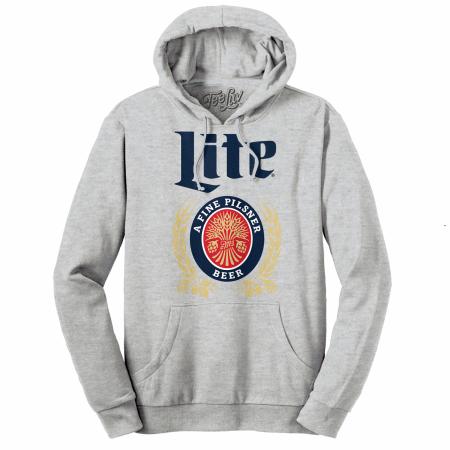 Miller Lite Beer Classic Logo Grey Hoodie