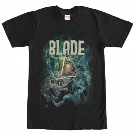 Marvel Teams Blade VS Undead Black Mens T-Shirt