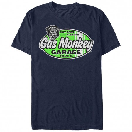 Gas Monkey Garage Surf And Turf Blue T-Shirt