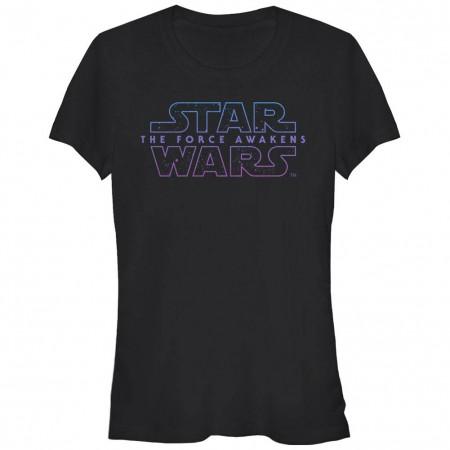 Star Wars Episode 7 Starry Logo 7 Black T-Shirt