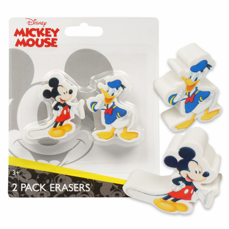 Mickey Mouse and Donald Duck Disney 2-Pack Eraser Set