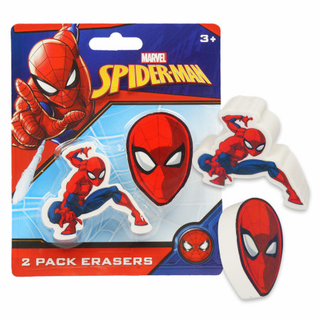 Spider-Man 2 Pack Erasers
