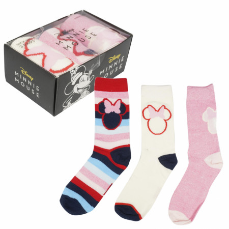 Minnie Mouse 3-Pack Women's Socks