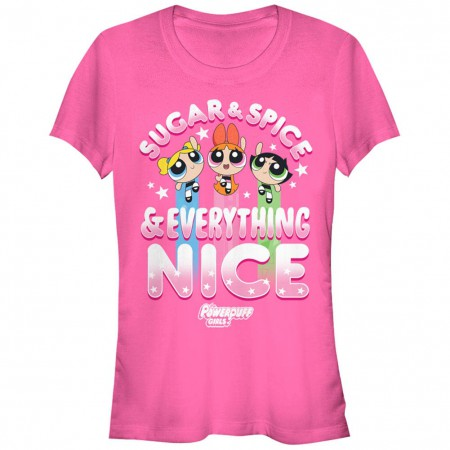 Power Puff Girls Sugar Spice and Everything Nice Pink T-Shirt