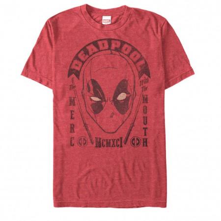 Deadpool Merc Mouth Red Mens T-Shirt