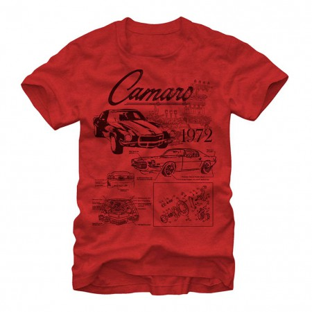 Chevrolet General Motors Blueprints Red T-Shirt