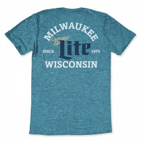 Miller Lite Milwaukee Wisconsin Blue T-Shirt