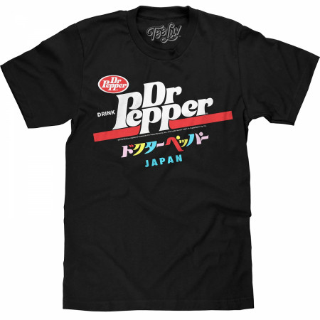 Dr. Pepper Label Japan Text T-Shirt