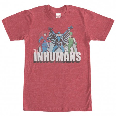 Marvel Teams Inhuman Groupshot Red Mens T-Shirt