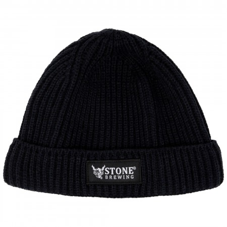 Stone Brewing Knit Black Beanie