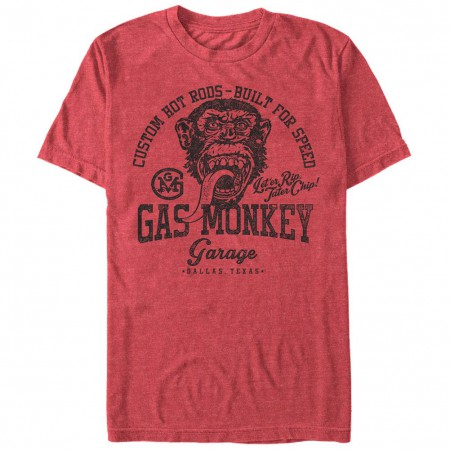 Gas Monkey Garage Athletic Monkey Red T-Shirt