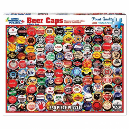 Beer Caps by Charlie Girard 550pc Puzzle