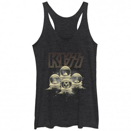 KISS-onauts Black Juniors Racerback Tank Top