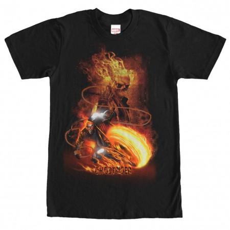 Ghost Rider Judgement Black Mens T-Shirt