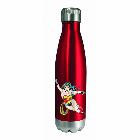 Wonder Woman Character and Symbol Stainless Water Bottle