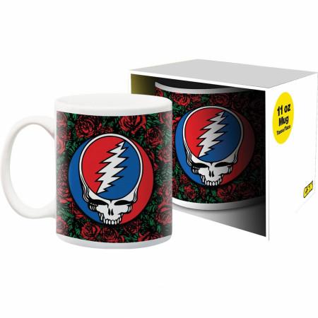Grateful Dead Roses Logo 11oz Mug