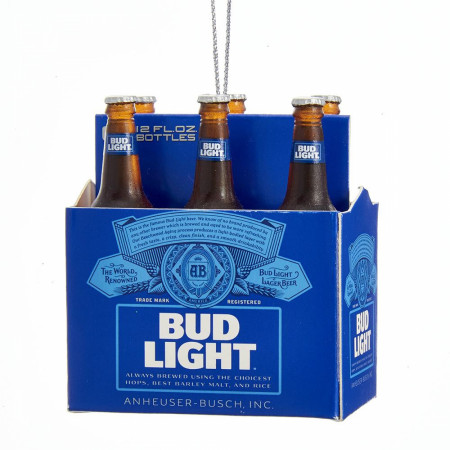 Bud Light Beer 6 Pack Holiday Ornament